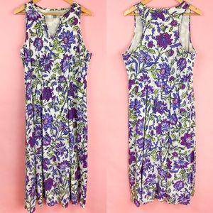 J. Jill Lupine Wildflower Maxi Dress Large Petite